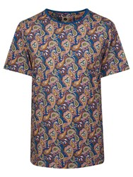Pretty Green Men's Vintage Paisley T Shirt Multi Coloured Multi Coloured