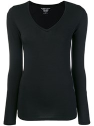 Majestic Filatures Long Sleeve Fitted Top Black