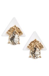 Women's Sole Society Deco Pyramid Stud Earrings