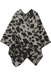 Burberry Leopard Print Wool And Cashmere Blend Cape