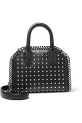 Stella Mccartney The Falabella Box Studded Faux Leather Shoulder Bag Black