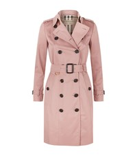 Burberry The Sandringham Mid Length Trench Coat Pink