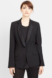 Ann Demeulemeester Short Back Wool Blazer Black