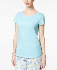 Charter Club Scoop Neck Cotton Pajama T Shirt Only At Macy's Caribbean