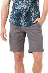 7 Diamonds Slim Fit Brushed Twill Shorts Charcoal