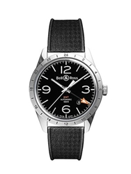 Bell And Ross Vintage Gmt Watch Black Silver