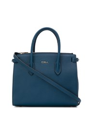 Furla Pin Tote Bag Blue