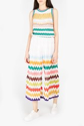 Missoni Women S Zigzag Knit Cropped Trousers Boutique1 White