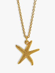 Alex Monroe Starfish Pendant Necklace Gold