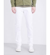 Nudie Jeans Brute Knut Regular Fit Straight Leg Pitch White