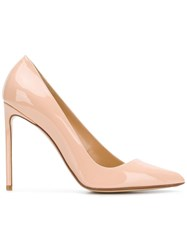 Francesco Russo Asymmetric Pumps Nude And Neutrals