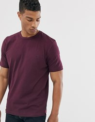 French Connection Organic Cotton Boxy Fit T Shirt In Burgundy Red