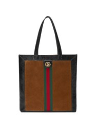 Gucci Ophidia Suede Large Tote Brown