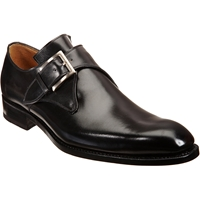 Harris Plain Toe Monk Black