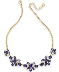 Charter Club Crystal And Stone Collar Necklace Created For Macy's Blue