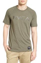 Rvca Men's Runner Graphic T Shirt Burnt Olive