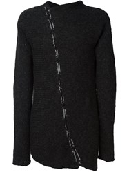 Thom Krom Stitching Detail Jumper Grey