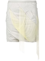 Rick Owens Easy Fringed Buds Shorts Neutrals