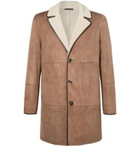 Loro Piana Wollaston Shearling Coat Brown