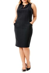 Mynt 1792 Sleeveless Seamed Sheath Dress Plus Size Black