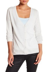 Kier And J Sequined Button Up Cardigan White