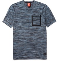 Nike Pace Dyed Tech Knit T Hirt Blue