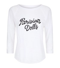 Sandrine Rose Slogan T Shirt White