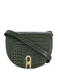 Salar Embossed Crocodile Saddle Crossbody Bag 60