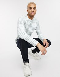 Only And Sons Long Sleeve Striped T Shirt In Mint Green