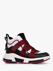 Fitflop Andrea Adjustable Strap Trainers Burgundy