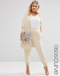 Asos Curve Luxe Tailored Jogger Cream