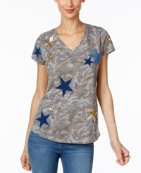 Inc International Concepts Cotton Camo Print T Shirt Only At Macy's Glamorous Camo