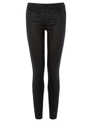 Warehouse Coated Skinny Jeans Black