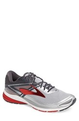 Brooks Men's Ravenna 8 Running Shoe Silver Anthracite Red