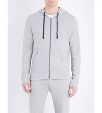 James Perse Vintage Cotton Jersey Hoody Heather Grey