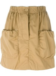 J.W.Anderson J.W. Anderson Patch Pocket Mini Skirt Nude And Neutrals