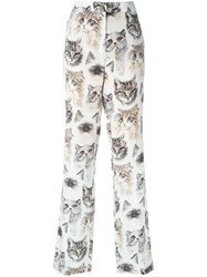 Stella Mccartney Cat Print Trousers Nude And Neutrals