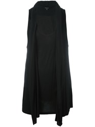 Unconditional Draped Hooded Vest Black