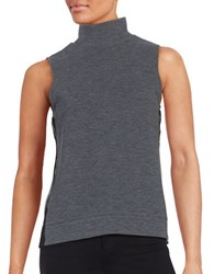 French Connection Sheer Back Turtleneck Grey