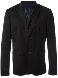 Diesel Button Up Blazer Black