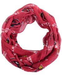 Forever Collectibles Arizona Cardinals All Over Logo Infinity Wrap Scarf Cardinal Red Black
