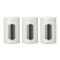 Brabantia Window Canisters Set Of 3 White