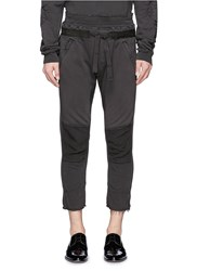 Haider Ackermann Raw Edge Cuff Cropped Sweatpants Black