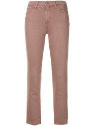 Ag Jeans The Isabelle Straight Cropped Pink
