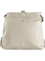 Henry Beguelin Textured Shoulder Bag White