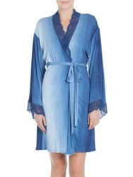 Jonquil Stormy Skies Wrapper Robe Blue