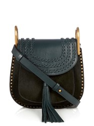 Chloe Hudson Small Leather Cross Body Bag Dark Green