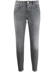 Closed Skinny Fit Jeans Grey