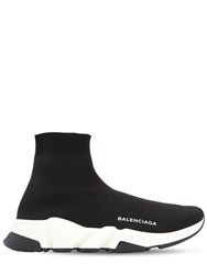 Balenciaga 30Mm Speed Knit Sock Sneakers Black