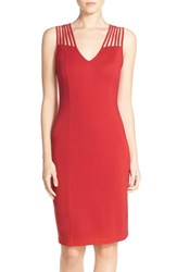 Women's Ali And Jay Ponte Sheath Dress Red